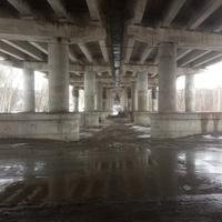 Под мостом через реку Осколец.