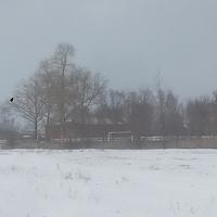 Вид на школьный стадион.