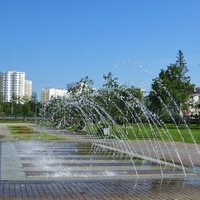 Ламинарный фонтан в парке УГМК