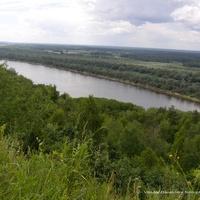 Река Ока в окрестностях часовни Петра и Февронии