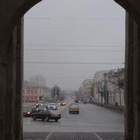 Улица Большая Московская. Вид от Золотых Ворот.
