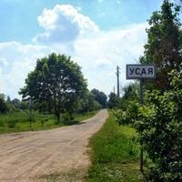 На въезде в деревню Усая