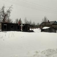 разрушенный дом в посёлке 6-й км