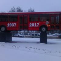 Памятник автобусу ЛиАЗ-5256 в Ликино-Дулёво