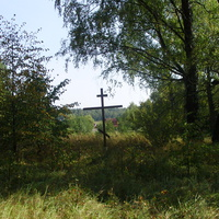 Поклонный крест на месте старой церкви села Жабки