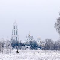 Зимний туман. Воскресенский собор.