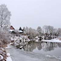 На окраине Шуи. Теза в районе Юрчакова.