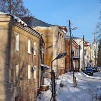 Старые дома 19 века на площади Ленина.