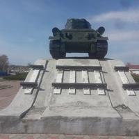 Памятник Великой Отечественной. Красная Армия перерезала железную дорогу , которая использовалась немцами.