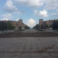 Вид на Соборный проспект от ДНЕПРОГЭСА. Раньше такого ракурса быть не могло - стоял памятник Ленину.
