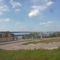 Вид на Днепровское водохранилище.