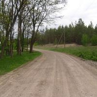 Гравийная дорога по селу.