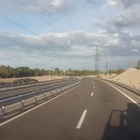 Новая дорога через заводской отвал.