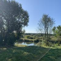 Деревня Мирогощь, река Сож, на кургане