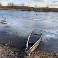 Зима, река Сож, Мирогощь