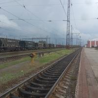 Восточная сторона вокзала станции Синельниково-1.