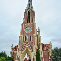 Троицкий костел в Гервятах - фасад