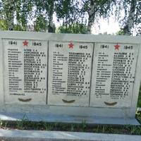 Мемориальные плиты.Фамилии погибших советских воинов