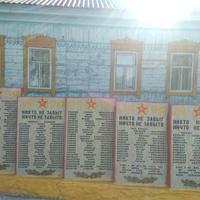 Мемориальные плиты с именами погибших жителей Кривчиковского сельсовета