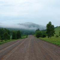 Дорога на Кирово ранним утром