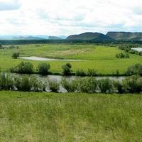 Вид на реку Белый Июс с гора Ашпа около Кобяково