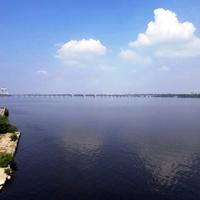 Днепропетровск. Река Днепр у Монастырского острова.