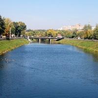 Река Лопань (вид с Купеческого моста).