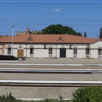 Административное здание железнодорожной станции.