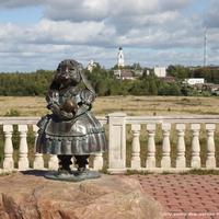 """Скульптура """"Зайчушка"""" на смотровой площадке"""