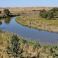 Река Белая у хутора