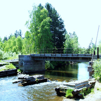 Река Олха в районе станции Летняя