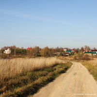Панорама Андрейцева, дорога от Гатихи к Андрейцеву