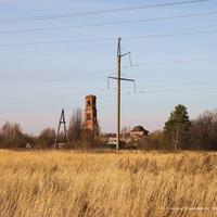 Вид на Леонтьево и Введенскую церковь