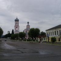 Улица Народная (бывшая Посадская) с домом №4 (чайной Шахова нач. XXв.) и видом на Троицкий Собор