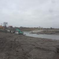 Расчистка русла реки Самары и планирование берегов.