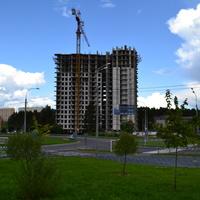 Строительство многоэтажного дома. Город Обнинск