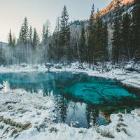 Гейзерное озеро Алтай