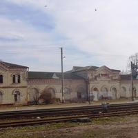 Станция Смела, дореволюционное здание вокзала.