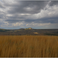 ПГТ Коктебель. Хребет Татар-Хабурга. Вид на гору Коклюк и Армутлукскую долину