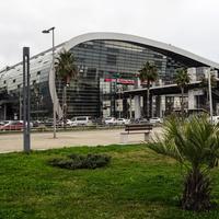Вид на новый железнодорожный вокзал