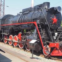 Паровоз   Л №5293  в экспозиции станции Воронеж