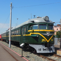 Электропоезд переменного тока ЭР9П-7 в экспозиции станции Воронеж