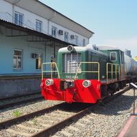 Маневровый тепловоз ТГК2-8764 в экспозиции станции Воронеж