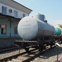 Вагон-цистерна двухосная  в экспозиции станции Воронеж