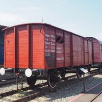 Двухосный немецкий грузовой вагон  в экспозиции станции Воронеж