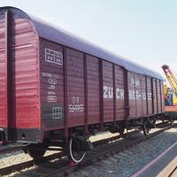 Грузовой вагон  в экспозиции станции Воронеж