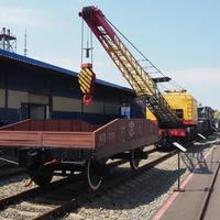 Кран КДЭ-163  в экспозиции станции Воронеж