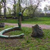 Скульптуры в парке Шевченко.
