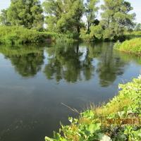 Река Воронеж у села Каликино. Обвальный.
