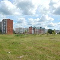 Жилые дома на окраине города